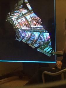 L'opera scansionata e vista in 3D.