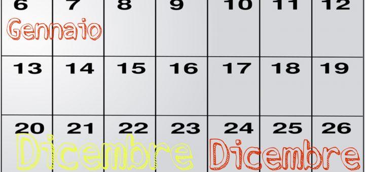 Calendario Natalizio delle zone